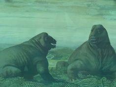 Dinosaurs in Moscow Museum of Archaeology Очень милые динозавры!