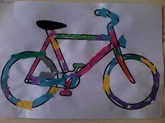 verkeer knutselen ~ Juf Milou - #Juf #Knutselen #Milou #verkeer Toddler Art Projects, Crafts For Kids, Bike Craft, Transportation Theme, Ride On Toys, Cool Kids, Asd, Ideas, Childhood Education