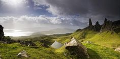 Old Man of Storr Panorama. Scotland.