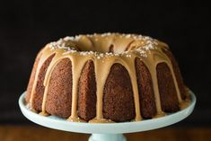 This Banana Pound Cake with Salted Toffee Icing may be the most delicious, easy cake you'll ever make! The icing takes it right over the top! Banana Pound Cakes, Nothing Bundt Cakes, Cake Tutorial, Cake Pans, Toffee, Have Time, Icing, Desserts, Food