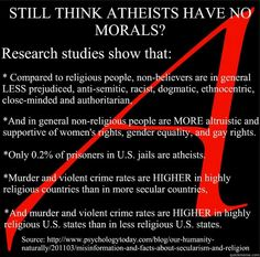 Interesting, I would add that usually atheists are even more committed to the defense of other animal species and of the environment, rejecting the dogma of anthropocentrism.