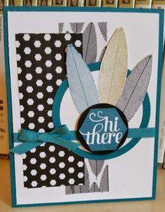 Hi There in Indigo: Stampin' Up! Card