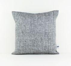 Cushion cover Grey Linen throw pillow Europe by LinenandStripes