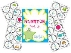 FREE! Fraction Match Up game - great for review or introduction to fractions