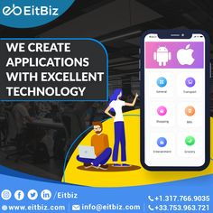 If you've ever wanted to build an app after thinking up a brilliant idea, you're at the right place. Contact EitBiz, a mobile app development company or hire mobile app developers to develop a feature-rich, robust, and scalable mobile app for your startup or enterprise. #mobileappdevelopment #iOSapp Mobile App Development Companies, Application Development, Software Development, Mobile Web Design, App Design, Build An App, Custom Website Design, Ecommerce Solutions, Good Communication