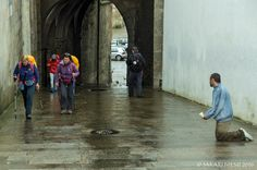 ES_160614 Espanja_0111 Pyhiinvaeltajia Santiago de Compostelassa Galiciassa