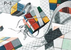 abstract objects – Rubik's Cube is a combination puzzle invented in 1974 by Hungarian sculptor and professor of architecture Ernő Rubik (born Originally called the Magic Cube, the puzzle was licensed by Rubik to be sold by Ideal Toy Corp. Solving A Rubix Cube, Ideal Toys, Gcse Art, Shape And Form, Realism Art, Art Portfolio, Colored Pencils, Art Lessons, Graphic Art