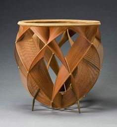'Shimmering of heated air' – Japanese bamboo basket by Shono Shounsai (Living National Treasure)