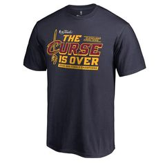 Cleveland Cavaliers 2016 NBA Finals Champions The Curse is Over T-Shirt - Navy - $18.99