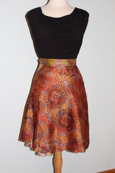 Magic Wrap Skirt, Silk Sari Wrap Skirt, Vintage Silk Skirt, Boho Skirt, Indian Sari Skirt, Sundress, Wrap Dress by HaVaLooksieGirlys on Etsy