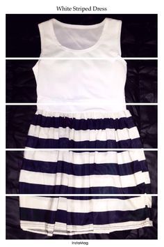 White #Striped #Dress