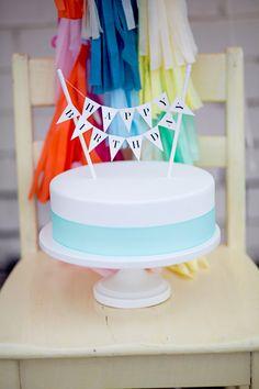 Happy Birthday Cake Topper, via Etsy // Tuck & Bonte