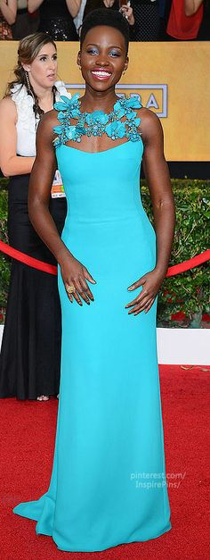 Lupita Nyong'o Screen Actors Guild 2014 | The House of Beccaria #