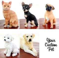 custom pets for on the cake!!!  BobbleGram Inc. - Cake Topper Add-on Pets, $25.00 (http://www.bobblegr.am/cake-topper-add-on-pets/)