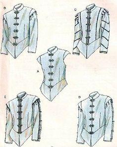 McCalls 4695 Mens Renaissance Doublets Costume Pattern Size These are beautiful! Renaissance Costume, Medieval Costume, Renaissance Fashion, Renaissance Clothing, Historical Costume, Historical Clothing, Larp, Ricardo Iii, Tudor Fashion