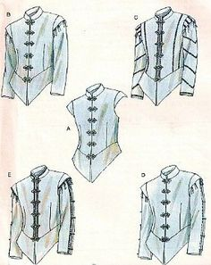 Amazon.com: McCalls 4695 Mens Renaissance Doublets Costume Pattern Size 34-36-38-40: Arts, Crafts  Sewing