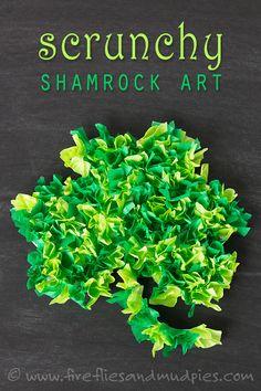 Printable Shamrock Art for Kids | Fireflies and Mud Pies