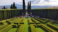 Ceremony in the Italian Garden! villa La Foce