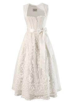 Krüger Feelings Dirndl long with lace apron from €. Krüger Feelings Dirndl long with lace apron from €. Wedding Dresses Plus Size, Plus Size Wedding, German Wedding, Dirndl Dress, Fancy Gowns, Costume Patterns, White Fashion, Traditional Dresses, The Dress