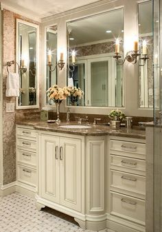 aaaaahhh ah ah ah ah.. I need this in my bathroom! love the mirror ideas!