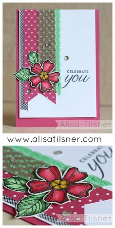 Stampin Up Birthday Blossoms created by Alisa Tilsner, CASE'd from Stampin Up