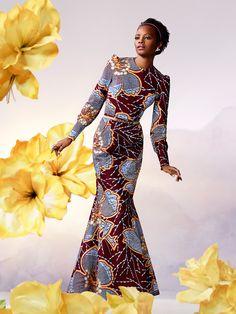 In Gambia dragen de vrouwen zeer kleurrijke kleding veelal van stoffen van Vlisco, van origine een Nederlands bedrijf. #GambianFashion Golden Silhouette | Vlisco V-Inspired