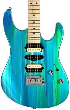 Suhr Pro M4 Guitar - Aqua Sparkle Drip