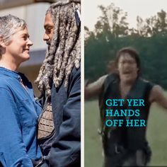 Lol why is this my reaction when i seen them Walking Dead Season 9, Walking Dead Series, The Walking Dead 3, Daryl Dixon Memes, Twd Memes, Funny Memes, Z Nation, Daryl And Carol, Dead Inside