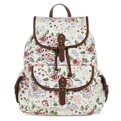 Women's Floral Print Backpack Handbag Cream - Mossimo Supply Co. : Target