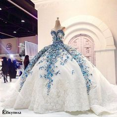 Cheap dress tweed, Buy Quality dress kate directly from China dress up dolls adult Suppliers: Romantic Big Ball Gown Wedding Dress Blue Bride Dress Flower Fashionable Princess Bride Wedding Party Dubai Muslim Gowns Lace Ball Gowns, Ball Gown Dresses, 15 Dresses, Elegant Dresses, Pretty Dresses, Casual Dresses, Awesome Dresses, Summer Dresses, Blue Wedding Dresses