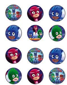 stickers-pjmasks-etiquetas-pjmasks - Heroes en Pijamas etiquetas - stickers - imprimibles heroes en pijamas - cumpleaños pjmasks