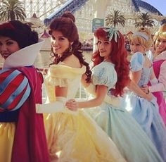 Snow White, Belle, Ariel, and Cinderella