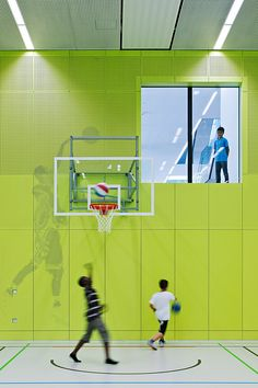 School Gymnasium by KIRSCH Architecture | school building | school indoor space | school design