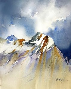 Thomas W Schaller  Demo 5 - Editing of detail and negative shape painting - Mt. Olympus