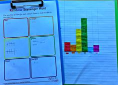 Making tally marks with the help of our Rainbow Scavenger Hunt and then building them into a colour bar graph Activity Village, Maths Resources, Tally Marks, Bar Graphs, Rainy Day Activities, Colouring Pages, The Help, Action, Classroom