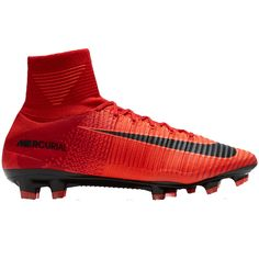 Nike Mercurial SuperFly V FG Men's Soccer Cleats-University Red-Black-Bright  Crimson