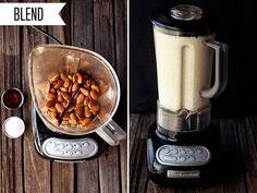 How-to Make Nut Milk - Tasty Yummies Delicious Vegan Recipes, Easy Healthy Recipes, Yummy Food, Recipe Tasty, Nut Milk Recipe, Milk Recipes, Smoothie Drinks, Smoothie Recipes, Vitamix Recipes