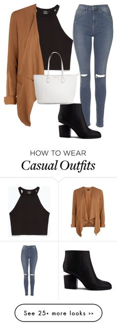 """Casually casual"" by ally1823 on Polyvore featuring Zara, Topshop and Alexander Wang"