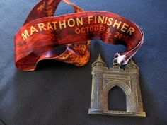 ING Hartford Marathon finishers medal -hoping to get one of these October, 2012