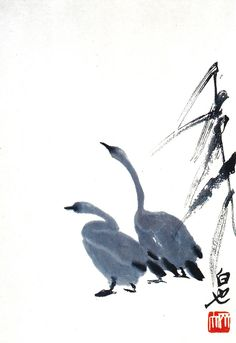 White Heron- White Heron ARTFINDER: White Heron by Kellas Campbell – My ink, pastel and graphite drawing of a heron spreading its wings. I ground up the ink from ink stick and applied it with calligraphy brushes. Ink Art, Korean Art, Ink Wash Painting, Traditional Paintings, Japanese Painting, Eastern Art, Bird Art, Ink Painting, Zen Art