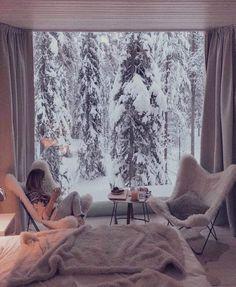 Treehouse Hotel, Chalet Chic, Cozy Place, Aesthetic Rooms, Cozy Christmas, Xmas, Minimal Christmas, Christmas Scenes, Elegant Christmas