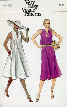 Vogue 7684 Misses Sleeveless Tent Dress Pattern, Size 10, UNCUT by DawnsDesignBoutique on Etsy