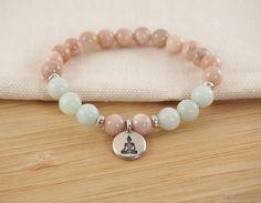 Piedras preciosas pulsera Amazonita pulsera pulsera de Yoga