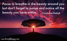 It's time to stop seeking out your shortcoming and see your beauty, wisdom and love.