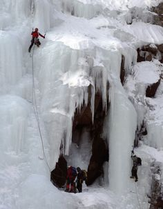 Do your climbs need a little kick? Just add some ice climbing in Crawford Notch.