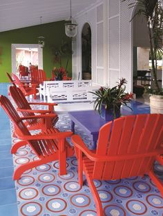 Cement Tile Project: A contemporary and fun cement tile #rug for a patio