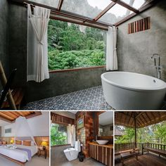 """RaTri&PP"" on Instagram: ""The coconut cottage 🌴🌴🌺 let's enjoy our happy quarantine time❤️"" Krabi, Clawfoot Bathtub, Coconut, Cottage, Happy, Instagram, Cabin, Cottages"
