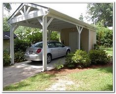 Quality design construction wheelchair ramp built into for Carport landscaping ideas