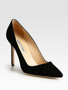 Manolo Blahnik BB Suede Point-Toe Pumps for my sister Olga who is a great inspiration for me and totally deserves to be a MB-queen this Christmas))