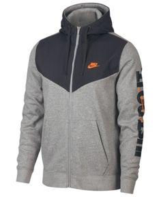 Nike Men's Sportswear Just Do It Fleece Zip Hoodie - Green Full Zip Hoodie, Fleece Hoodie, Grey Hoodie, Sweatshirt, Nike Outfits, Sport Outfits, Nike Hoodies For Men, Nike Men, Nike Sweat